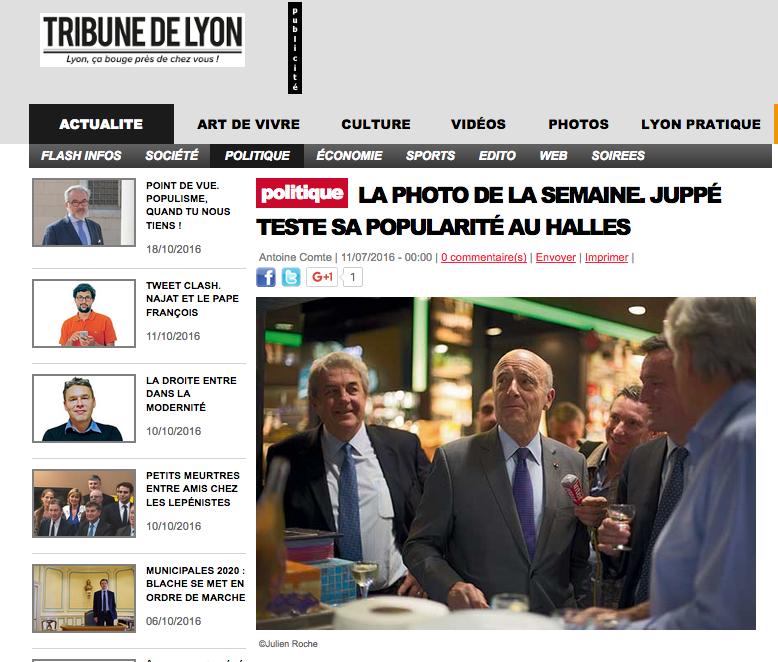 Alain Juppé - Halles de Lyon